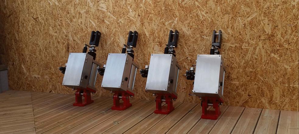 Cylinder with positioner | DN160 stroke 200mmCylinder positioner